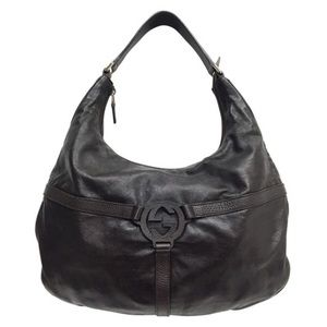 Gucci brown reins Tom Ford era GG hobo handbag